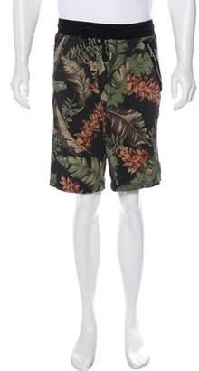 Dries Van Noten Floral Jogger Shorts