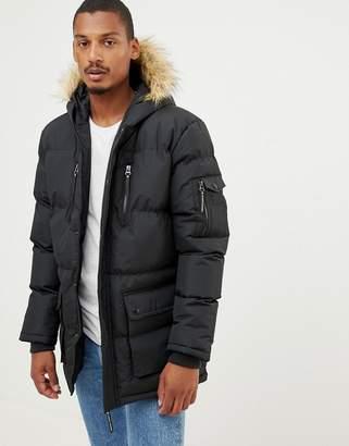 Criminal Damage eskimo faux fur hood parker coat