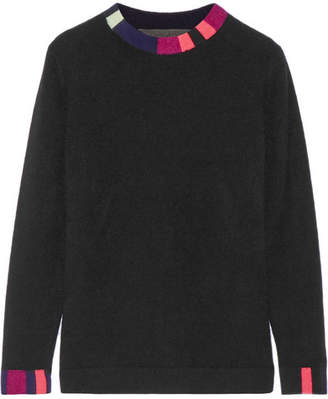 The Elder Statesman Lego Striped Cashmere Sweater - Black
