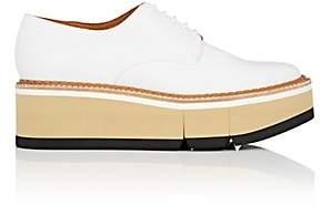 Clergerie Women's Barbara Leather Platform Oxfords - White