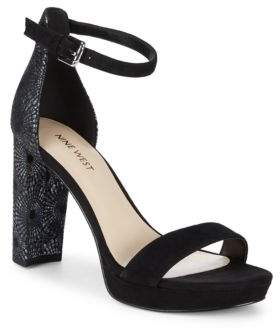 Nine West Dempsey Suede Platform Sandals
