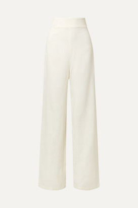 Adriana Degreas Crepe Wide-leg Pants - Off-white