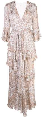 Shona Joy paisley pattern ruffle dress