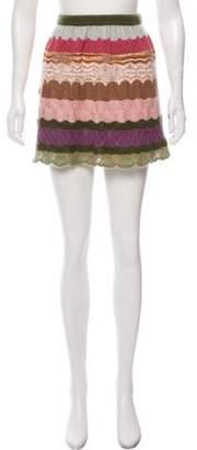 Missoni Wool & Mohair Mini Skirt Green Wool & Mohair Mini Skirt