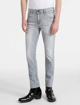 Calvin Klein sculpted bleached grey slim jeans