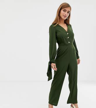 70ebcb3285f1 Vero Moda Petite 3 4 Tie Sleeve Jumpsuit