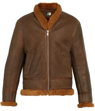 Isabel Marant Anders Shearling Lined Leather Jacket - Mens - Bronze