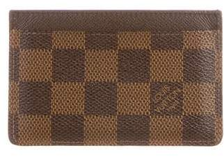 Louis Vuitton Damier Ebene Card Holder w/Tags