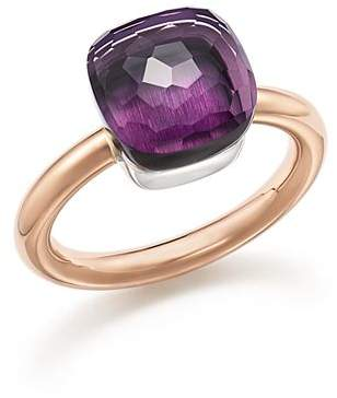Pomellato Nudo Classic Ring with Amethyst in 18K Rose and White Gold