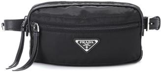 Prada Leather-trimmed belt bag