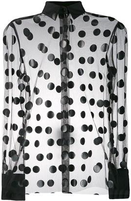 MSGM sheer polka dot blouse
