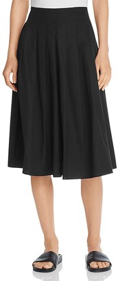 Vince Pleated Cotton Midi Skirt $275 thestylecure.com