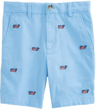 Vineyard Vines Boys Flag Embroidered Stretch Breaker Shorts