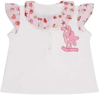 Versace Seahorse Embellished Polo Shirt