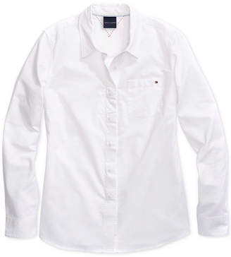 Tommy Hilfiger Adaptive Women's Woven Shirt with Magnetic Buttons