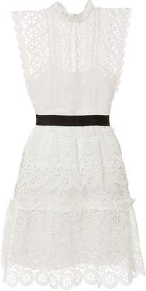 Self-Portrait Self Portrait Circle Floral Lace Mini Dress