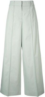 Jil Sander Navy flared tailored trousers