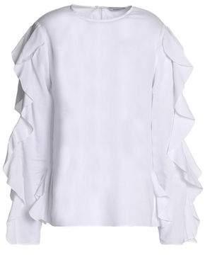 Goen.j Ruffle-Trimmed Cotton-Gauze Top
