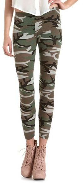 Camo Print Cotton Spandex Legging