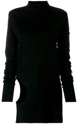Rick Owens cut-out detailed jumper