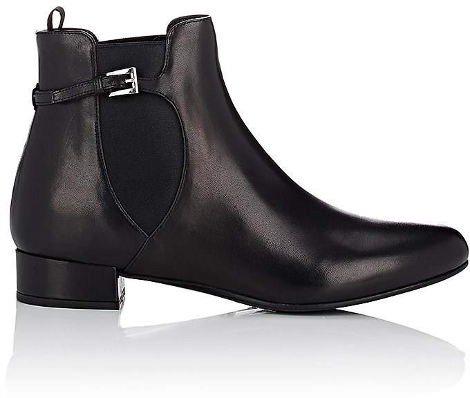 Prada Women's Buckle-Strap Leather Chelsea Boots