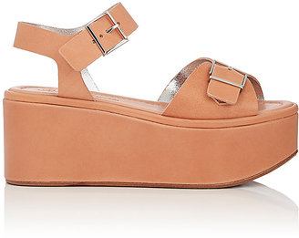 Robert Clergerie Women's Feitv Leather Platform Sandals $625 thestylecure.com