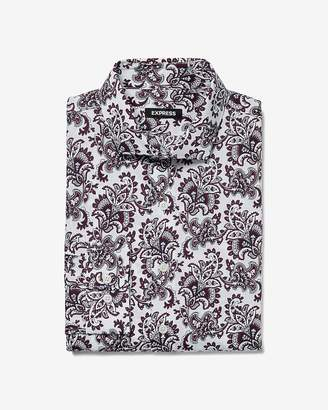 Express Extra Slim Paisley Dress Shirt