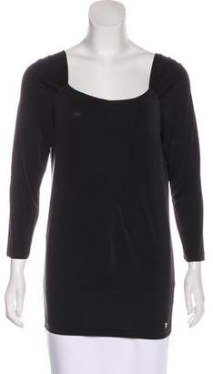 Trussardi Long Sleeve Scoop Neck Top