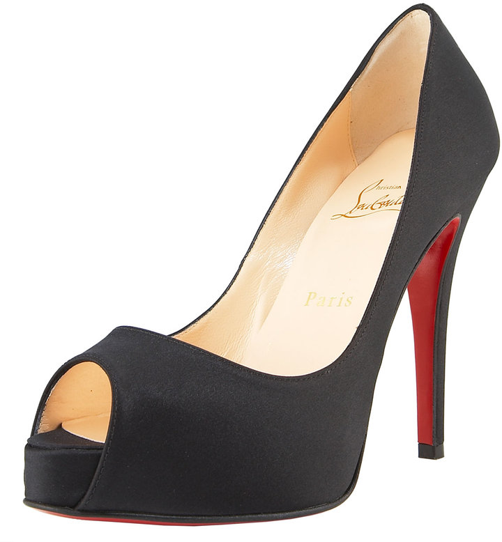 Christian Louboutin Very Prive Satin Platform Pump