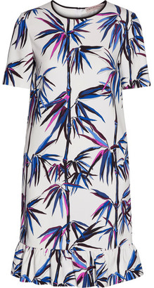 Emilio Pucci - Ruffle-trimmed Printed Satin-twill Dress - White $1,840 thestylecure.com