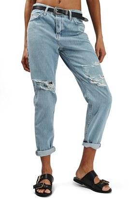 Topshop 'Hayden' Bleach Ripped Boyfriend Jeans $80 thestylecure.com