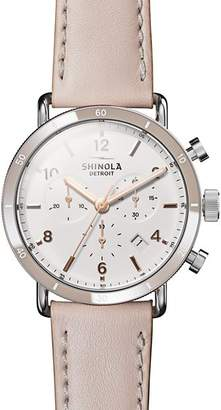 Shinola Canfield Pink Strap Sport Chronograph, 40mm