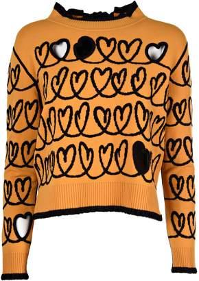 Fendi Cut-out Heart Sweater