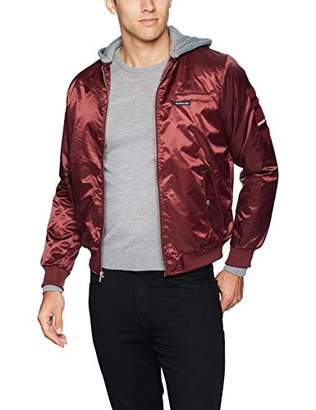 Members Only Men's Bomber Jacket with Detachable Hood