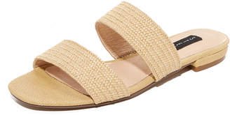 Steven Friendsy Raffia Slides $89 thestylecure.com