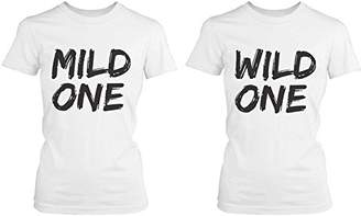 Love 365 Printing Cute Best Friend T Shirts - Mild One and Wild One - Funny BFF Matching Shirts