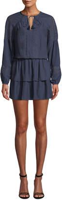 Ramy Brook Winnie Crochet Drop Waist Sheath Dress