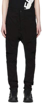 11 By Boris Bidjan Saberi Black Shaped Button-Up Trousers