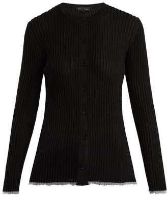 Proenza Schouler V Neck Ribbed Knit Cardigan - Womens - Black