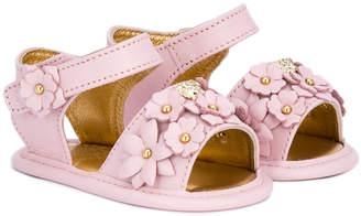 Versace floral embellished sandals