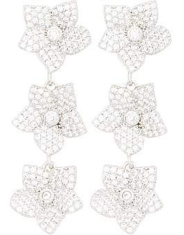 Kate Spade Pave Bloom Linear Earrings