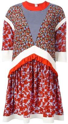 MSGM floral print shift dress