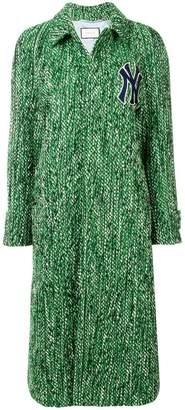 Gucci Yankees patch tweed coat