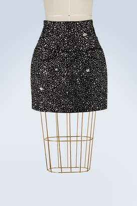 Balmain Rhinestone mini skirt