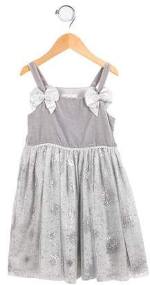 Rachel Riley Girls' Metallic Lace Dress