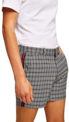 Topman Tape Check Shorts