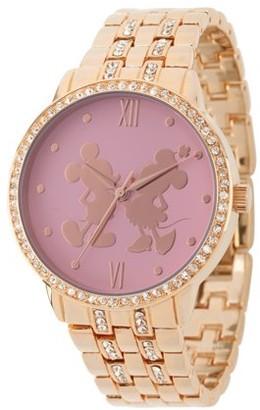 b42af069fc3b Disney Mouse Women s Rosegold Alloy Glitz Watch