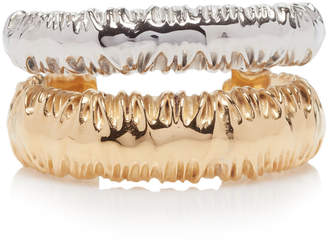 Givenchy Rhodium-Plated Silver And Gold-Tone Cuff Size: S