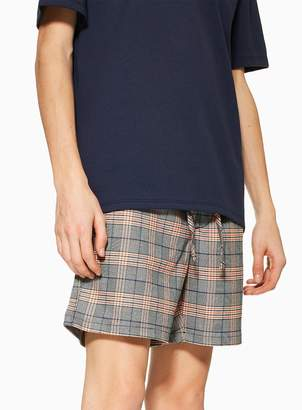 TopmanTopman Orange Check Pull On Shorts