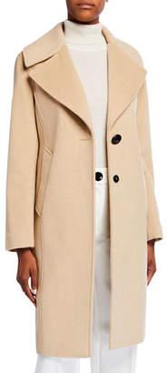Derek Lam 10 Crosby Two-Tone Reefer Coat